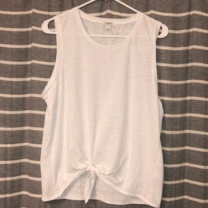 J crew tank with tie in front